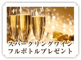 スパークリングワイン フルボトルプレゼント